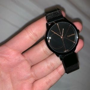 black CALVIN KLEIN watch